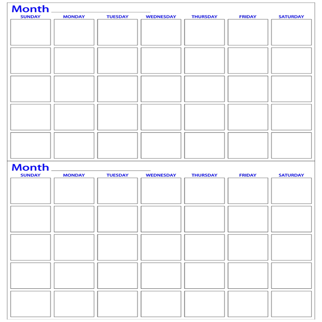 Two month dry erase calendar made4heroes 100 american for 3 day calendar template