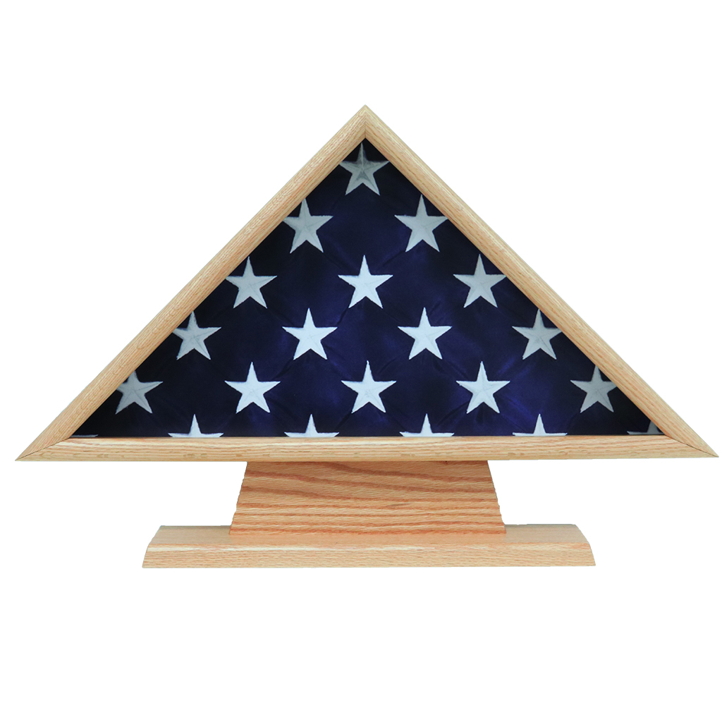 hero memorial flag case with pedestal