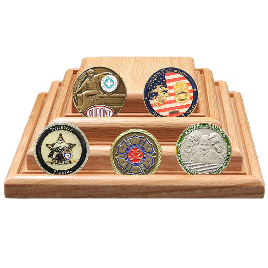 Pyramid Coin Display | Made4Heroes | 100% Handmade Products