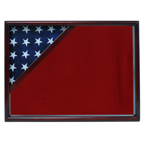 Firefighter Ceremonial Corner Flag Case - Cherry