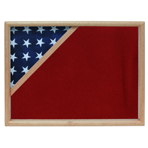 Firefighter Ceremonial Corner Flag Case - Oak