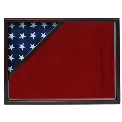 Firefighter Ceremonial Corner Flag Case- walnut