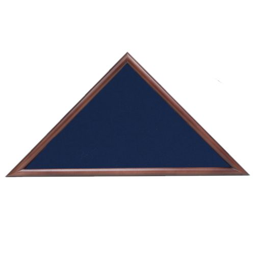 police officer hero memorial flag case - Walnut