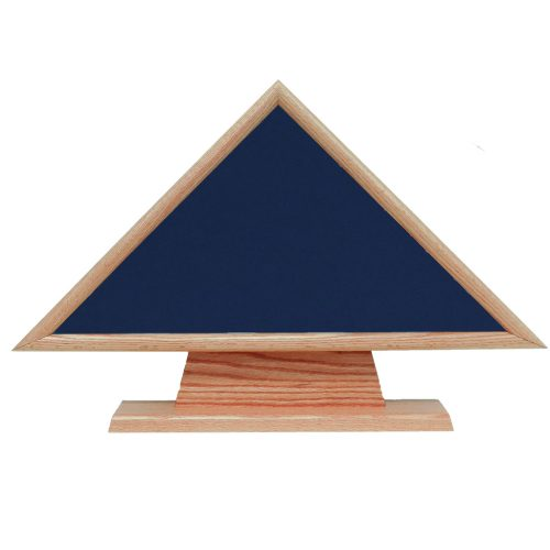 Police Officer Hero Memorial Flag Case With Pedestal - Oak