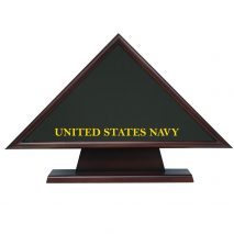 navy hero memorial flag triangle with pedestal