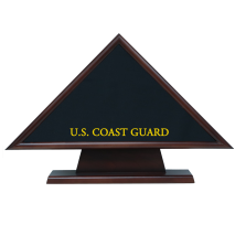 Coast Guard Hero Memorial Flag Case With Pedestal