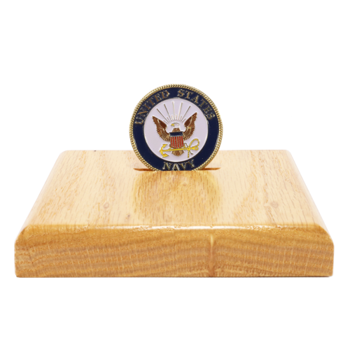Square Single Challenge Coin Display