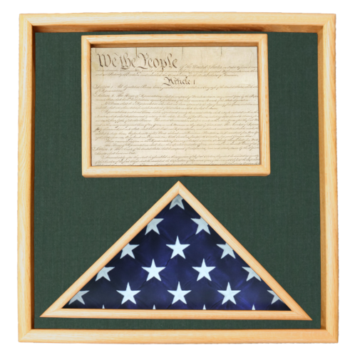 Pride Ceremonial Flag and Document Display Box