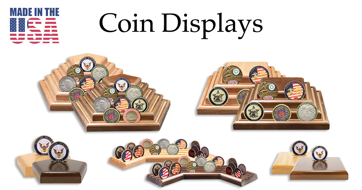 Coin Displays   Challenge Coin Holders   100% American Made