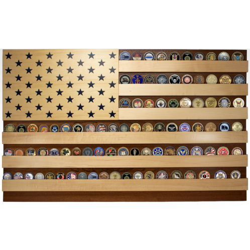 100 challenge coin display