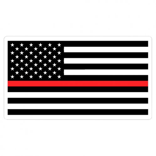 Red Line Flag Decal