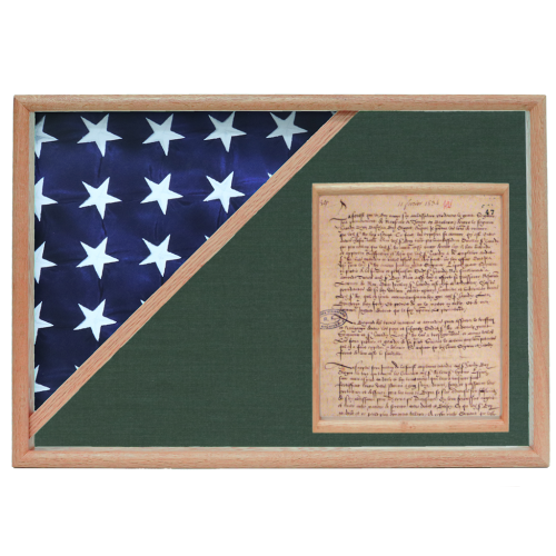 Memorial Flag and Document Display Case