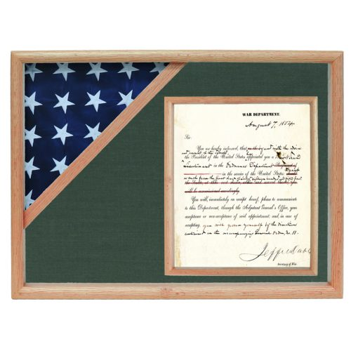 Ceremonial Flag and Document Display Case