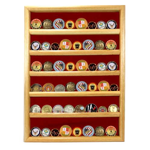 wall mounted coin display